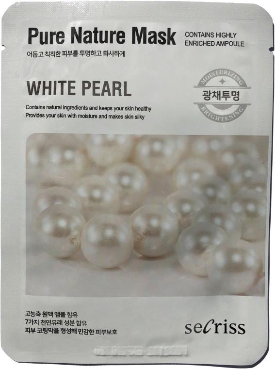 "Тканевая маска для лица ""Жемчуг"" - Secriss Pure Nature White Pearl Mask"