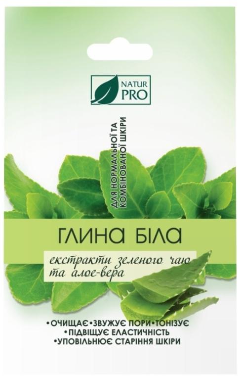 Белая глина с экстрактом зеленого чая и алоэ вера - NaturPro