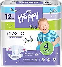 "Духи, Парфюмерия, косметика Подгузники детские ""Happy"" Classic Maxi 4 (8-18 кг), 12 шт - Bella Baby"