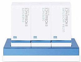 Духи, Парфюмерия, косметика Набор по уходу за кожей лица - Nannic Excellence Luxury Starter Box (serum/30ml + serum/30ml + cr/50ml)