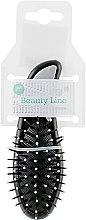 Щетка массажная, маленькая, черная - Beauty Line — фото N2