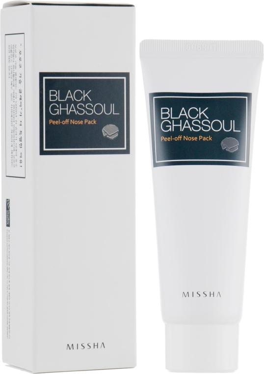 Маска-пленка с марокканской глиной - Missha Black Ghassoul Peel Off Nose Pack