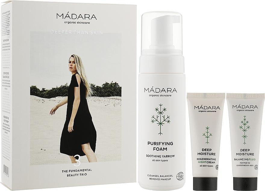 Набор - Madara Cosmetics Become Organic Starter Set (foam/150ml + fluid/25ml + cr/25ml)