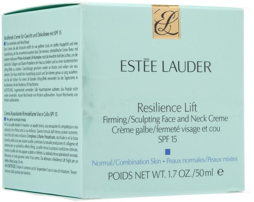 Лифтинговый крем для нормальной кожи лица и шеи - Estee Lauder Resilience Lift Firming Sculpting Face and Neck Creme Oil-Free SPF 15
