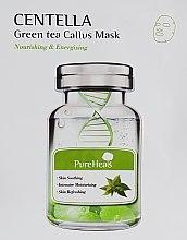 Духи, Парфюмерия, косметика Восстанавливающая тканевая маска с экстрактом центеллы и зеленого чая - PureHeal's Centella Green Tea Callus Mask
