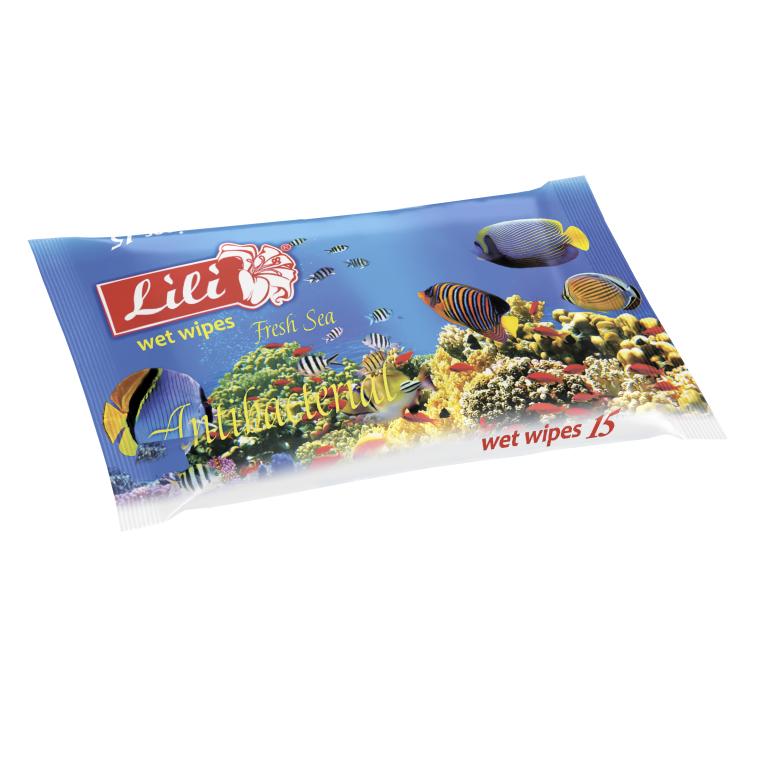 Влажные салфетки с ароматом морской свежести - Lili