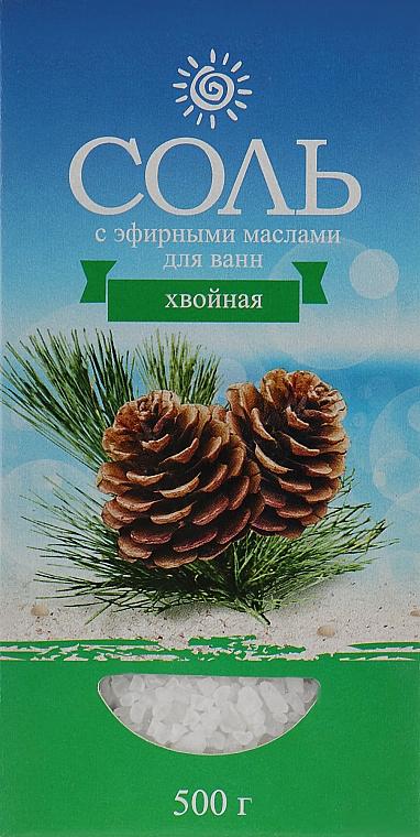 Соль морская с эфирным маслом хвоя - Карапуз