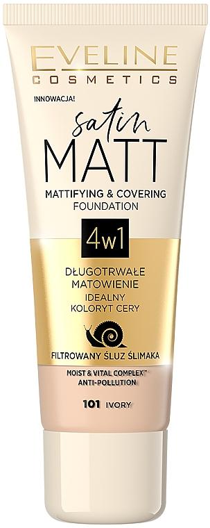 Тональный крем с матовым эффектом - Eveline Cosmetics Satin Matt Mattifying Foundation