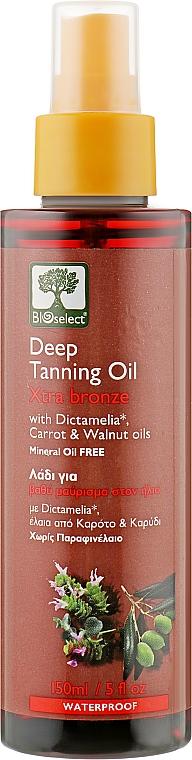 Масло для загара с маслом моркови и грецкого ореха - BIOselect Deep Tanning Oil Xtra Bronze