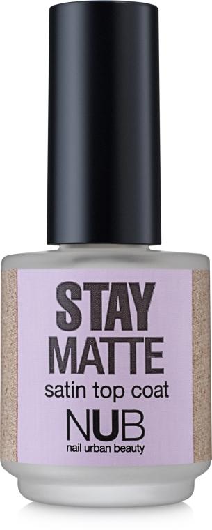 Матовый закрепитель для лака - NUB Stay Matte