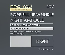 Апули з концентратом для звуження пор - Pro You Professional Pore Fill Up Wrinkle Day & Night Ampoule Dual Set — фото N2