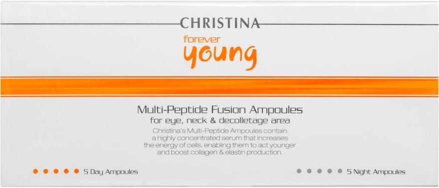 Мультіпептидні ампули (5 денних і 5 нічних) - Christina Forever Young Multi-Peptide Fusion Ampoules — фото N2