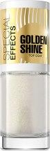Духи, Парфюмерия, косметика Покрытие для ногтей с золотистыми блестками №150 - Eveline Cosmetics Special Effects Golden Shine Top Coat