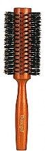 Духи, Парфюмерия, косметика Щетка для волос круглая 9879, с натуральной щетиной 28/58 мм - Donegal