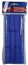 Духи, Парфюмерия, косметика Бигуди на липучке 16/63, синие - Ronney Professional Velcro Roller