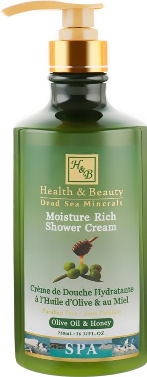 "Крем-гель для душа ""Оливковое масло"" - Health And Beauty Moisture Rich Shower Cream"