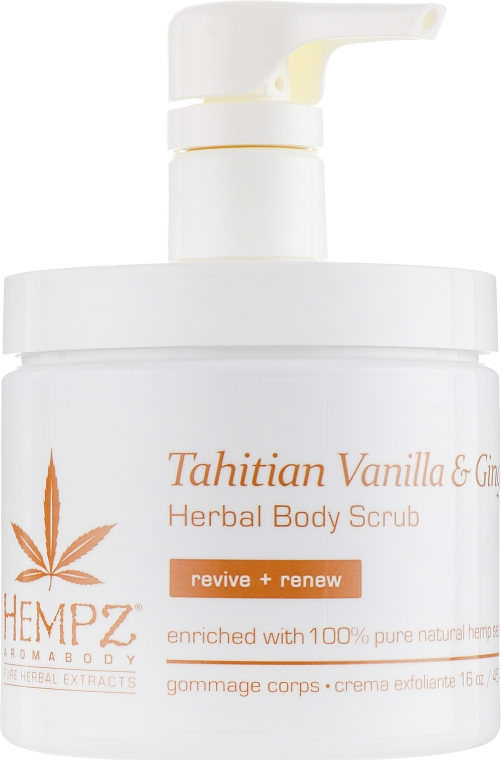 "Скраб для тела ""Имбирь и Ваниль Таити"" - Hempz Tahitian Vanilla & Ginger Herbal Body Scrub"