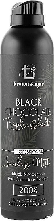 Спрей-автозагар с темными бронзантами и экстрактом черного шоколада - Brown Sugar Black Chocolate Triple Black