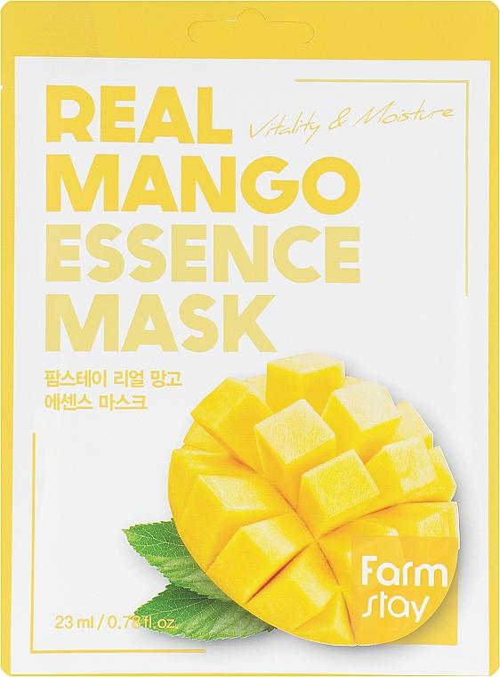 Тканевая маска для лица с экстрактом манго - FarmStay Real Mango Essence Mask