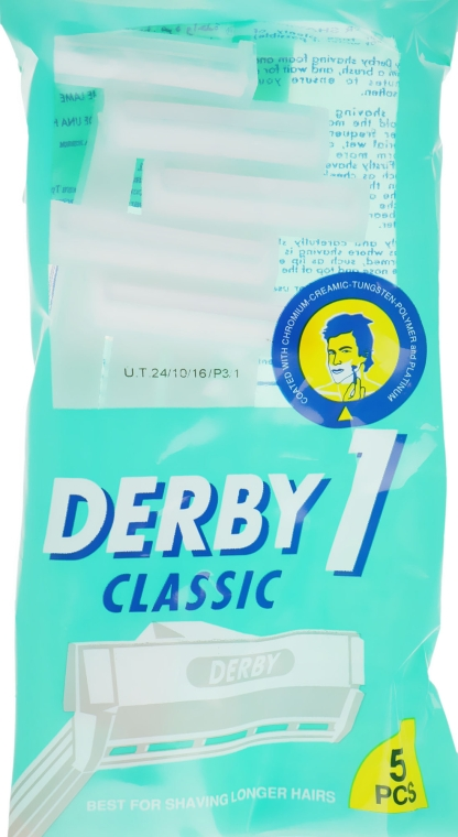 Одноразовый станок для бритья, 5 шт. - Derby Classic