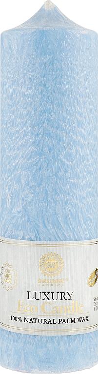 Свеча из пальмового воска колонна голубая 21,5 см - Saules Fabrika Luxury Eco Candle