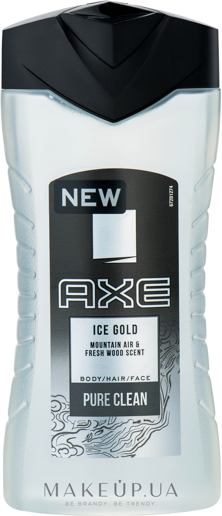 Гель для душа - Axe Ice Gold Body, Hair and Face Wash — фото 250ml