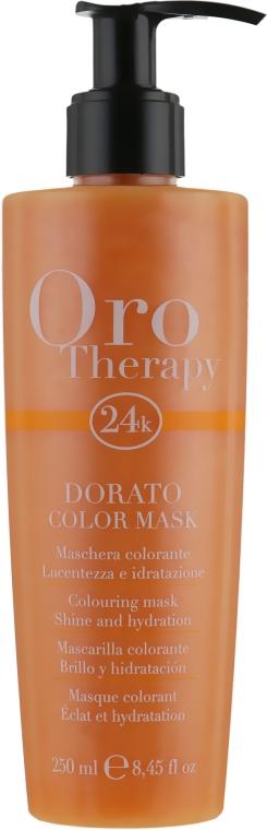 "Тонирующая маска для волос ""Золотистая"" - Fanola Oro Therapy Colouring Mask"