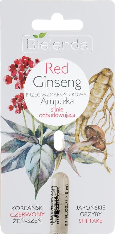 Ампула с красным женьшенем против морщин - Bielenda Red Ginseng