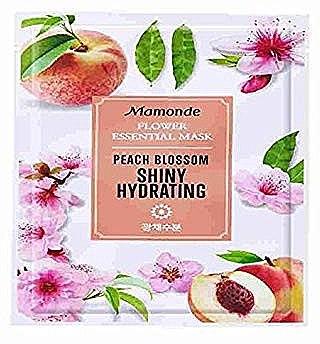 Тканевая маска для лица - Mamonde Flower Essential Mask Peach Blossom Shiny Hydrating — фото N1