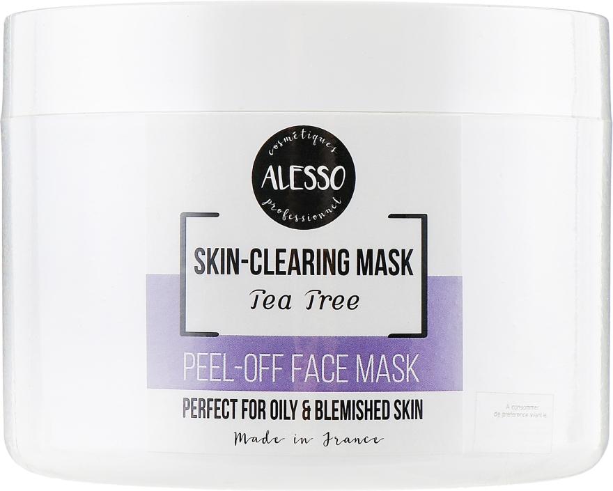 Маска для лица альгинатная противовоспалительная с маслом чайного дерева - Alesso Professionnel Alginate Anti-Inflammation Peel-Off Face Mask With Tea Tree