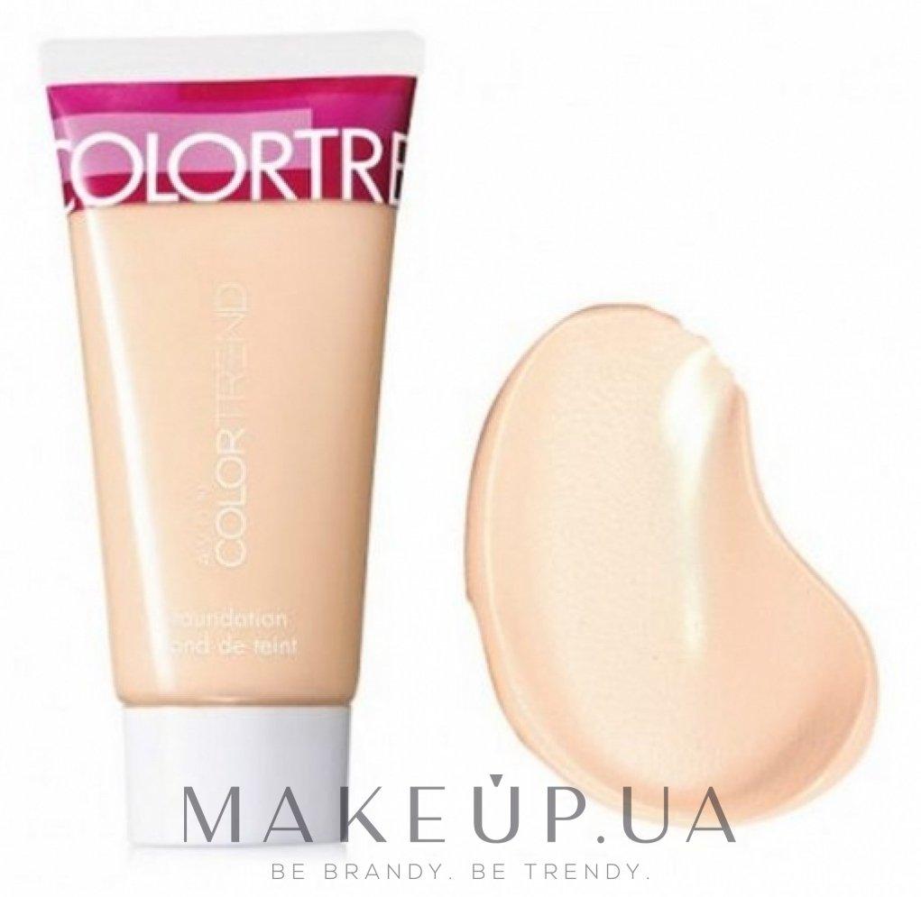 """Бархатный тональный крем для лица """"Блеск-контроль"""" - Avon Color Trend — фото Ivory Beige"""