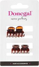 Духи, Парфюмерия, косметика Заколка-краб для волос FA-5819, мини, коричневая, 4 шт - Donegal Hair Clip