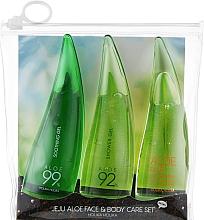 Духи, Парфюмерия, косметика Набор - Holika Holika Aloe Face And Body Care Set (foam/55ml + gel/55ml + sh/gel/55ml)