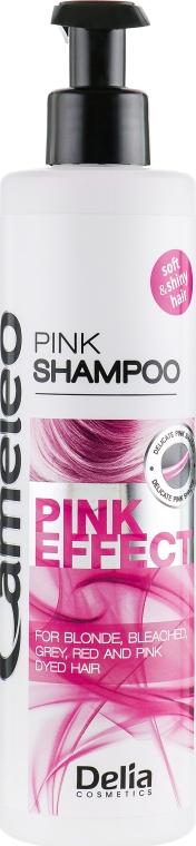 Ухаживающий шампунь с розовым оттенком - Delia Cosmetics Cameleo Pink Effect Shampoo