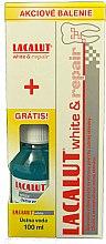 Духи, Парфюмерия, косметика Набор - Lacalut White & Repair Set (t/paste/75ml+balm/100ml)