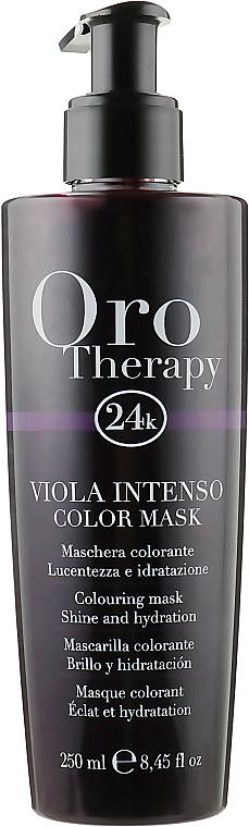 """Тонирующая маска для волос """"Фиолетовая"""" - Fanola Oro Therapy Colouring Mask"""