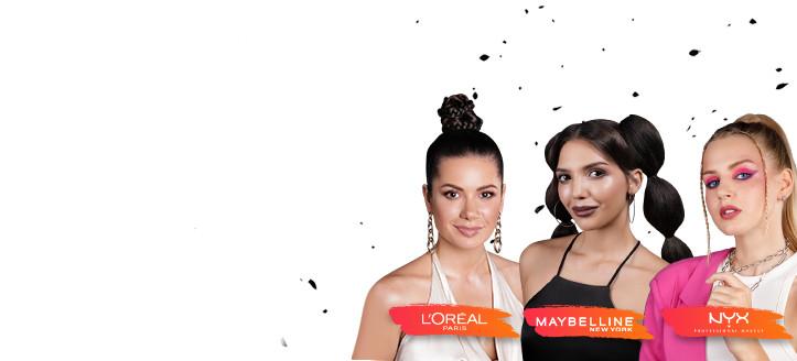 При покупке декоративной косметики L'Oreal Paris, Maybelline New York или NYX Professional Makeup на сумму от 499 грн получите в подарок бьюти набор