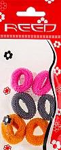 Духи, Парфюмерия, косметика Набор резинок для волос, 7576, 6шт, розовый + серый + горчичный - Reed