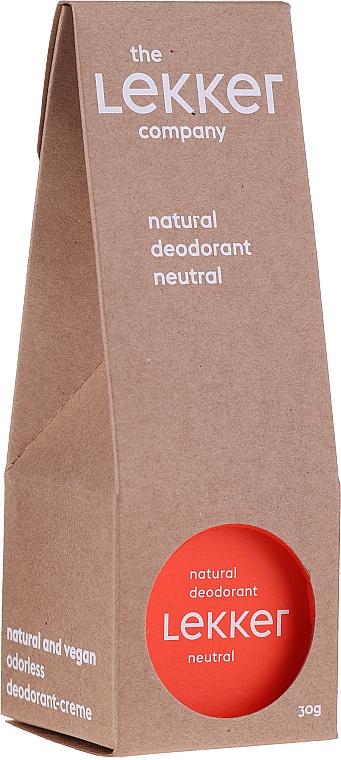 Натуральный крем-дезодорант без запаха - The Lekker Company Natural Deodorant Neutral