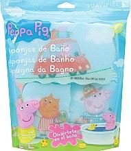 """Духи, Парфюмерия, косметика Набор мочалок """"Свинка Пеппа"""" 3шт, путешествие - Suavipiel Peppa Pig Bath Sponge"""