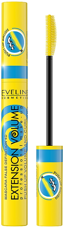 Тушь для ресниц - Eveline Cosmetics Extension Volume 4D False Definition Push Up Volume and Curl