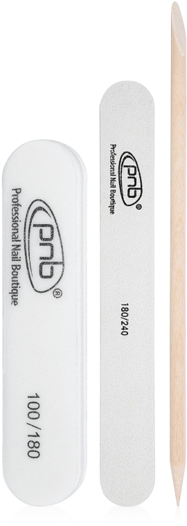 Набор для маникюра - PNB (mini-nail file/1pc + mini-buff/1pc + orange stick/1pc)
