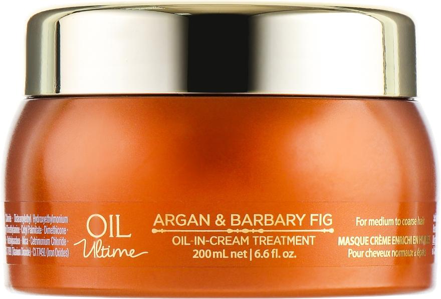 Маска для нормальных и жёстких волос с маслом арганы и берберийской фиги - Schwarzkopf Professional Oil Ultime Oil In Cream Treatment