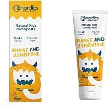 "Духи, Парфюмерия, косметика Детская зубная паста ""Мандарин Клементин"" - Nordics Kids Orange Clementine Toothpaste"