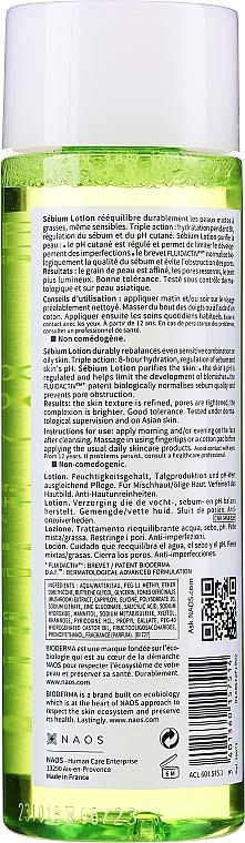 Лосьон для жирной и комбинированной кожи - Bioderma Sebium Lotion Rebalancing Water — фото N2