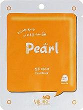 Духи, Парфюмерия, косметика Увлажняющая тканевая маска с экстрактом жемчуга - Mijin Care On Pearl Mask