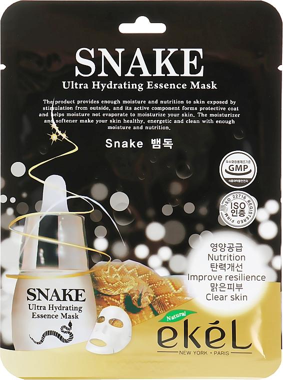 """Тканевая маска """"Эффект ботокса"""" - Ekel Snake Ultra Hydrating Essence Mask"""