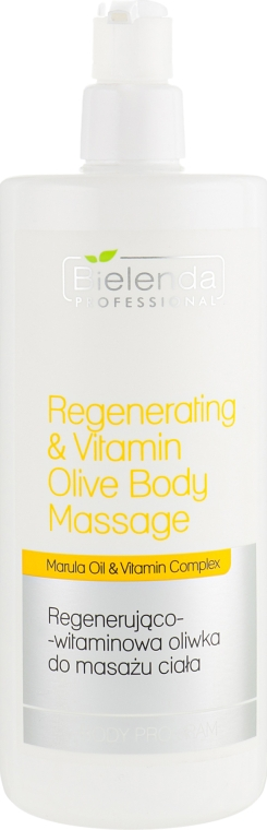 Масло для массажа - Bielenda Professional Regenerating & Vitamin Olive Body Massage