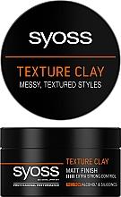 Парфумерія, косметика Текстурувальна глина для волосся, фіксація 5 - Syoss Texture Clay