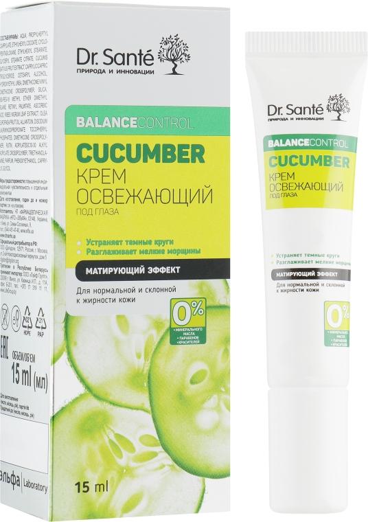 Освежающий крем под глаза - Dr. Sante Cucumber Balance Control